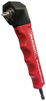 Milescraft Right Angle Drill Attachment Power Tool Drive90PLUS Impact Ready Red
