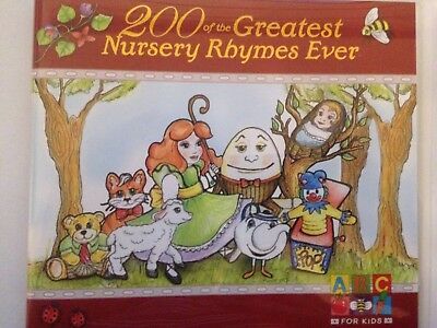 200 OF THE GREATEST NURSERY RHYMES EVER 2 x CD Set ABC For Kids BRAND NEW! 2CD