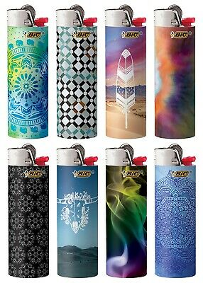 BIC Special Edition Bohemian Series Lighters Set of 8 Lighters New 2020 Designs