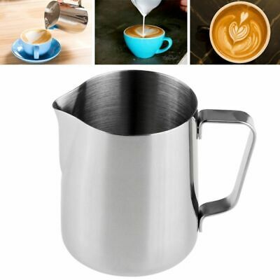 Stainless Steel Milk Frothing Jug Frother Coffee Latte Container Metal Pitcher Y
