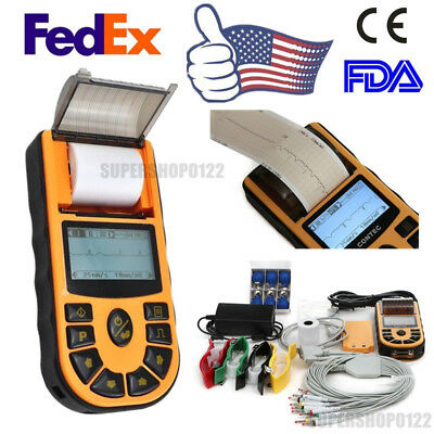 ECG Machine,1 Channel 12 Lead Electrocardiograph software ECG80A Printer FEDEX
