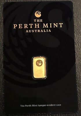 1 Gram Gold Bar - Perth Mint (In Assay) - Beautiful!! .9999 Fine Gold