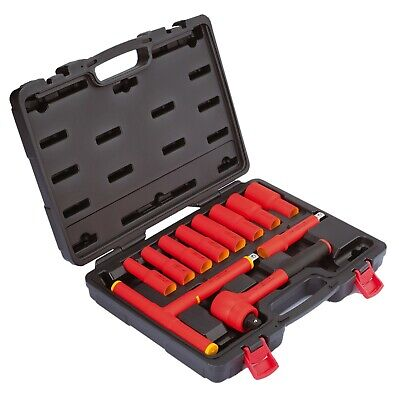 "Mannesmann Electrician Insulated VDE 1/2"" Ratchet & Socket Set 12 pcs DIN GS TUV"