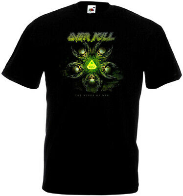 OVERKILL The Wings Of War T-shirt black thrash heavy metal all sizes S...5XL