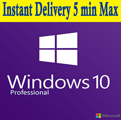 WIN 10 PRO 32/64 BIT WINDOWS 10 PRO ACTIVATION KEY, INSTANT DELIVERY, 5 min MAX