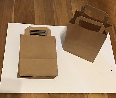 56 Small Paper Bags With Handles 22x18x9 Cm