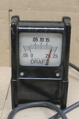 Bacharach Large Draft Gauge Minus .05 to .25 -- For Parts/ Repair