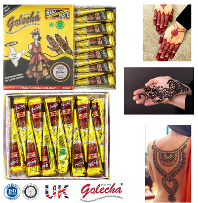Wholesale Instant Pure Black Henna Tattoo Cones + Red Marron Cone Fresh Indian