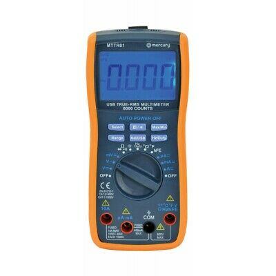 True RMS Digital Multi Tester / Temperature Meter with USB (Mercury MTTR01)