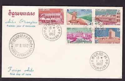 Cambodia 1962 FDC 1st day cover Foreign Aid