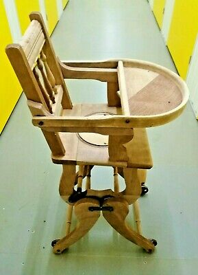 Victorian Metamorphic Children's High Chair - Ready for Renovation