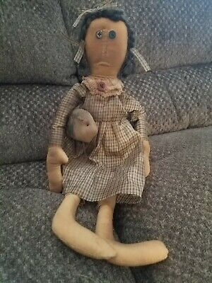 Primitive Doll With Pig