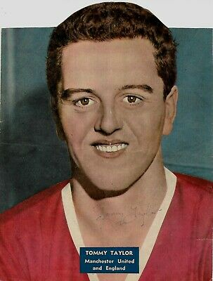 Signed Tommy Taylor 1932-1958 Manchester United England Busby Babes 1950s Rare