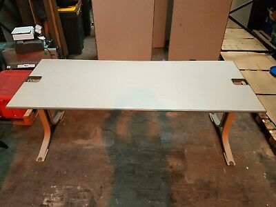 80 cm Deep and 200 Cm Long Grey Office Workbench Table 8 Available
