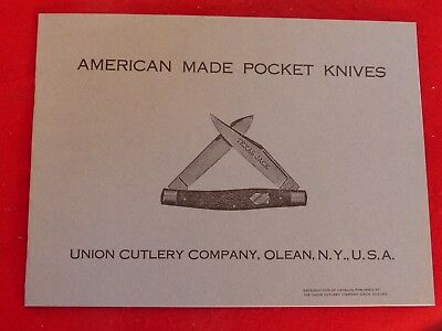 vintage reprint of American Made Pocket Knives Union Cutlery Olean NY catalog