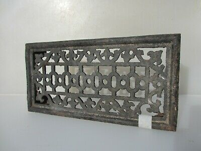 Victorian Iron Air Brick Vent Grille Grate Architectural Antique Old 14.5x7""