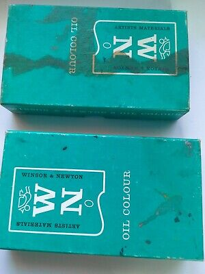 Vintage Windsor & Newton oil colours 2x Box of 6 colours, opened but still oily