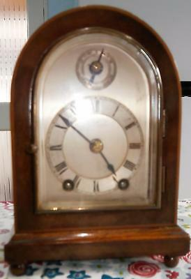 Miniature Ting Tang Mahogany Bracket Clock by Peerless/Lenzkirch