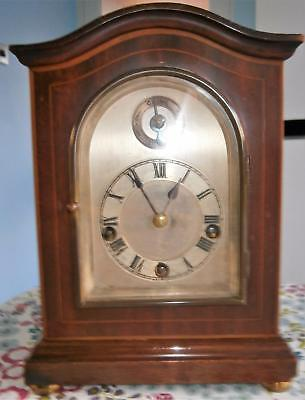 Winterhalder & Hoffmier Miniature Westminster Mahogany Bracket Clock Serviced