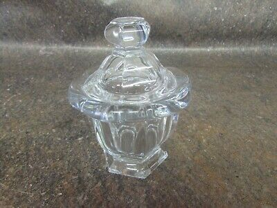 """Baccarat France Crystal Container 4.5"""" Tall 3.5"""" Wide Candy Dish (M5)"""