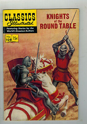 CLASSICS ILLUSTRATED COMIC No. 108 Knights of the Round Table - 15c  HRN 108