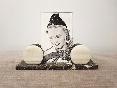 Stunning and Original Art Deco Marble Photo Frame 1930s
