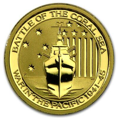 2015 Australia Battle of the Coral Sea 1/10th .9999 Gold Coin
