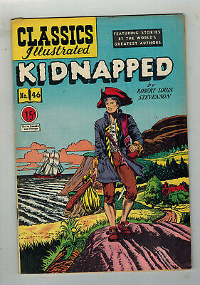 CLASSICS ILLUSTRATED COMIC No. 46 Kidnapped - 15c  HRN 62