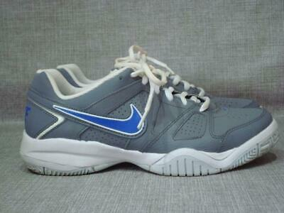 Nike Uk 5 City Court Grey And Blue Tennis Trainers