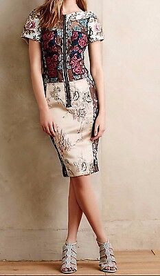 33af1e4205bc1 Anthropologie Pieced Brocade Dress From Beguile by Byron Lars Sz 4P - NWOT