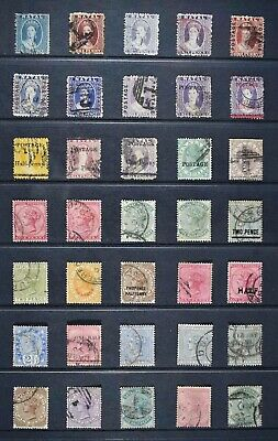NATAL, thirty five (35) Victorian stamps for identification, used condition.