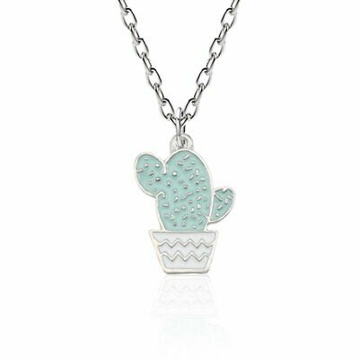 Fashion Necklace Potted Cactus Charm Pendant Chain Jewelry For Women Party Gifts