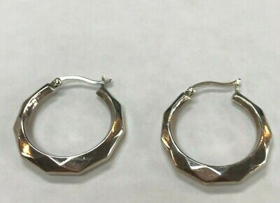 Sterling Silver  .925 Pierced Ear Hoop Earrings