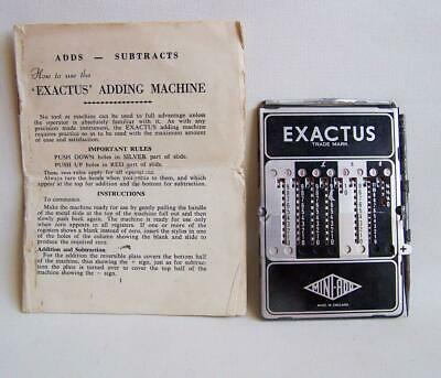 Vintage 'mini-Add Exactus' With Instructions & Flimsy Case.