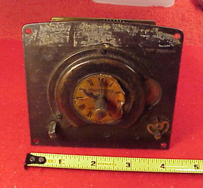 Vintage Early Time Clock Anderson Mfg Co No 20490 Boston 1905 4X4 Inch