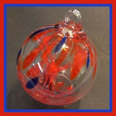 """Hanging Glass Ball 3"""" Diameter """"4th of July Tree"""" Witch Ball (1) GB31"""