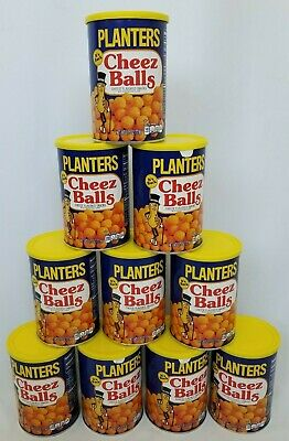 Planters Cheez Balls Lot of 10 Cans Cheese 2018 Limited Release 2.75 Ounce Cans