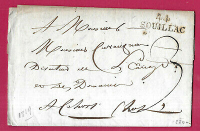Marque 44 Souillac Lot 1819 Cahors Lettre Cover