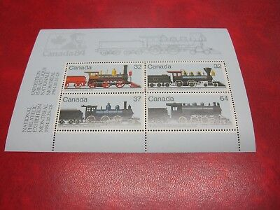 Canada unitrade #1039a CANADIAN LOCOMOTIVES-2 SOUVENIR SHEET CV $4.00  MNH