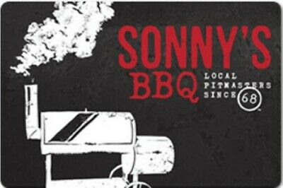 $50 Sonny's BBQ Restaurant Gift Card - Free USPS 1st Class Mail Delivery