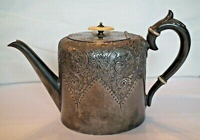Antique Pewter Teapot, by Pringle & Sons circa 1892