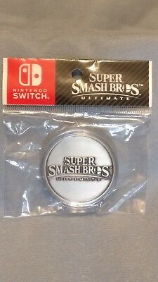 Super Smash Bros Ultimate Collectible Silver Coin!  Brand New and Sealed