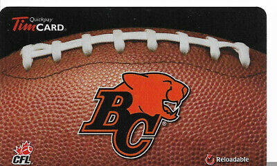Tim Hortons Cfl Rechargeable Gift Card Bc Lions 2013