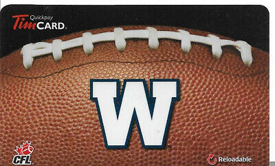 Tim Hortons Cfl Rechargeable Gift Card Winnipeg Blue Bombers 2013