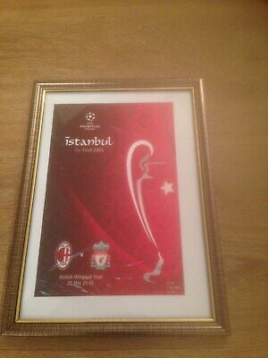 Framed Canvas Print Of 2005 Champions League Final - Liverpool V A.c Milan