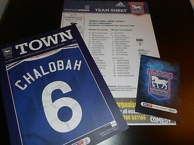 IPSWICH TOWN  v  DERBY COUNTY  2018/19  FEB 13  + TEAM SHEET + FIXTURES LIST
