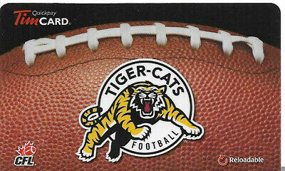Tim Hortons Cfl Rechargeable Gift Card Hamilton Tiger-Cats 2013
