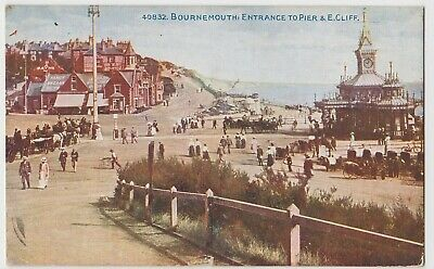 Dorset; Bournemouth, Entrance To Pier & East Cliff PPC By Photochrom, 1918 PMK