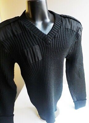 4c77aedbc Citadel Wool Military Inspired Sweater Men s Black L 44 Elbow  Shoulders  Patches
