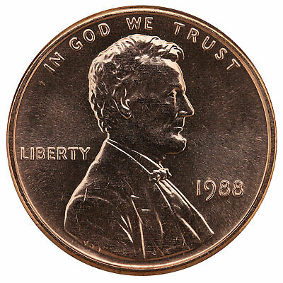 1988 Lincoln Memorial Cent BU Penny US Coin